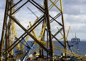 View of Burntisland Fabrications yard at Fife Energy Park in Methil in Fife , Scotland, UK. They fabricate platforms and modules for the offshore oil, gas and renewable industries. Iain Masterton/ Scottish Viewpoint Burntisland Fabrications,industry,Scotland,Scottish,Fife Energy Park,Methil,offshore,fabricators,yard,renewables,oil and gas industry,manufacturing,business,Fife,United Kingdom,UK,British,Europe,Europ