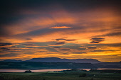 Sunset over the Moray Firth and Ben Wyvis from above Allanfearn, near Inverness, Scotland Alan Gordon/ Scottish Viewpoint Ben Wyvis,Black Isle,Firths,Highlands,Inverness,Moray Firth,Munro,Ross and Cromarty,Scotland,afterglow,atmospheric,color,colour,dramatic,dusk,evening,field,firth,hills,landscape,light,mountains,nobody