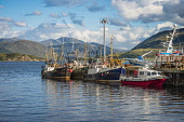 Ullapool harbour, Wester Ross, Scotland Alan Gordon/ Scottish Viewpoint Loch Broom,Munro,Ross and Cromarty,Scotland,Ullapool,atmospheric,boat,fishing,harbour,hills,landscape,launch,loch,marine,mountains,nobody,pier,quay,sea,sea loch,summer,sunlight,sunny