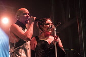Edinburgh, Scotland, United Kingdom. 31 December 2017. Joanne Catherall and Phil Oakey of The  Human League perform during annual New Year of Hogmanay celebrations in the city. Iain Masterton/Scottish Viewpoint Hogmanay,Edinburgh,New Year,human league,concert,performance,street performance,Scotland,Scottish,night,Edinburgh Hogmanay,Edinburgh New Year,street party,New Year Edinburgh,Hogmanay Edinburgh,2017