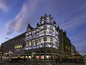Night exterior view of Jenners department Store in Edinburgh, Scotland, United Kingdom Iain Masterton/Scottish Viewpoint Jenners,Jenners Edinburgh,Edinburgh Jenners,Scotland,Scottish,department store,shop,shops,exterior,night,princes street,uk,United Kingdom,Britain,Jenners Department store,Jenners department store Edin