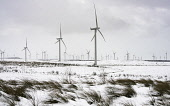 View of wind turbines at Whitelee Windfarm after snow fall in winter  operated by Scottish power, Scotland, United Kingdom Iain Masterton/Scottish Viewpoint Whitelee Windfarm,wind farm,Whitelee wind farm,wind turbines,Whitelee Wind farm Scotland,renewables,winter,snow,renewable energy,wind turbine,investment,scottish windfarm,wind farms,windfarms,British