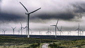 View of wind turbines at Whitelee Windfarm in East Renfrewshire operated by Scottish power, Scotland, United Kingdom Iain Masterton/Scottish Viewpoint Whitelee Windfarm,wind farm,wind turbines,Whitelee Windfarm Scotland,renewables,renewable energy,wind turbine,investment,scottish windfarm,wind farms,windfarms,British wind farm,environment,environmen