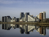 View of Glasgow Harbour modern property development with many high-rise modern riverside apartment buildings in Glasgow, United Kingdom Iain Masterton/Scottish Viewpoint Glasgow,Glasgow Harbour,housing,apartments,property development,housing market,riverside,residential property,waterfront,River Clyde,high-rise,modern,flats,homes,residential,Scotland,Scottish,United K