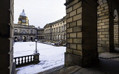 View of the Old College courtyard at University of Edinburgh , Scotland, United Kingdom Iain Masterton/Scottish Viewpoint University of Edinburgh,Old College,Edinburgh University,Edinburgh,Scotland,Scottish,campus,snow,law faculty,faculty of law,winter,education,higher education,universities,building exterior,historic,la