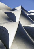 Abstract view of roof at Oriam National Sports Centre at Heriot-Watt University in Edinburgh, Scotland, United Kingdom Iain Masterton/Scottish Viewpoint Oriam,Oriam National Sports Centre,Edinburgh,sport,abstract,architecture,modern,geometric,detail,roof,sport performance centre,Heriot-watt university,building exterior,exterior,Scotland,Scottish,cente