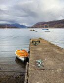 Looking out to Loch Broom from jetty at Ullapool, Highlands of Scotland Allan Coutts/Scottish Viewpoint u.k,Great Britain,GB,G.B,Scotland,Scottish,nobody,daytime,outdoors,harbour,loch,loch broom,evening,ocean,jetty