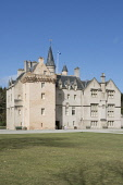 16th Century Brodie Castle, Scottish Tower House  Moray Scotland D.G.Farquhar/Scottish Viewpoint uk,u.k,Great Britain,GB,G.B,Scotland,Scottish,nobody,daytime,outdoors,Brodie Castle,Castle,Forres,Scottish Tower House,summer