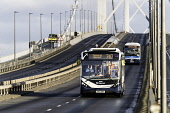 South Queensferry, Scotland, United Kingdom. 1 February, 2018. The Forth Road Bridge opened today as a dedicated public transport corridor giving bus and taxi passengers a direct and dedicated route t... Iain Masterton/Scottish Viewpoint Forth Road Bridge,Public Transport Corridor,highway,Queensferry,Scotland,Scottish,susainable,travel,infrastructure,buses,taxi,express,route,public transport,transportation,UK,United Kingdom,roads,road