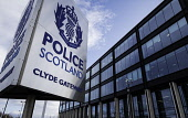 View of Police Scotland headquarters at Clyde Gateway in Glasgow, Scotland, United Kingdom Iain Masterton/Scottish Viewpoint Police Scotland,Scotland Police,Scotland,Scottish police,headquarters,Clyde Gateway,Glasgow,outdoor,sign,signage,daytime,building exterior,UK,united Kingdom,Britain,British,law enforcement,organisatio