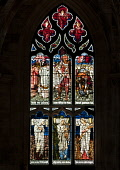 Stained Glass window St Giles Cathedral Edinburgh, Scotland D.G.Farquhar/Scottish Viewpoint uk,u.k,Great Britain,GB,G.B,Scotland,Scottish,nobody,daytime,outdoors,Britain,Edinburgh,Scotland Stained Glass,St Giles Cathedral,Stained glass window