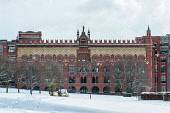 Former Templeton carpet factory in a snowy Glasgow Green, Scotland Tony Clerkson/Scottish Viewpoint uk,u.k,Great Britain,GB,G.B,Scotland,Scottish,nobody,daytime,outdoors,cold,glasgow,snow,Templeton