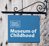 Sign outside refurbished Museum of Childhood on the Royal Mile in Edinburgh Old Town, Scotland, United Kingdom Iain Masterton/Scottish Viewpoint Museum of Childhood,Edinburgh Old Town,Edinburgh Museum of Childhood,Museum of Childhood Edinburgh,sign,building exterior,detail,museums,Scotland,Scottish,travel,tourism,UK,united kingdom,britain,Brit