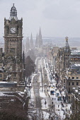Edinburgh, Scotland, United Kingdom, 1 March, 2018. Heavy snowfalls continue across the city from the storm known as The Beast from the East. Most shops are closed and transport services have been can... Iain Masterton/Scottish Viewpoint Edinburgh,Scotland,storms,snow,Beast from the East,city,winter,storm,snowfall,wintry,weather,Britain,British Weather,UK,United Kingdom