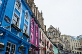 View of colourful shop fronts historic Victoria Street in Edinburgh Old Town after heavy snow, Scotland, United Kingdom Iain Masterton/Scottish Viewpoint Victoria Street Edinburgh,Edinburgh Victoria Street,shopfront,shopfronts,shop fronts,Edinburgh,snow,winter,wintry,historic Old Town Edinburgh,Edinburgh Old Town,cold,historic,streets,travel,tourism,we