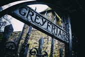Detail of old gates at entrance to Greyfriars Cemetery in Old Town of Edinburgh, Scotland, United Kingdom Iain Masterton /Scottish Viewpoint Greyfriars Cemetery,Edinburgh,Old Town Edinburgh,Edinburgh Old Town,Greyfriars Edinburgh,gates,Scotland,Scottish,UK,travel,tourism,historic,history,UNESCO World Heritage Site,cemeteries,daytime,nobody