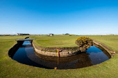 View of famous Swilken Burn crossing the 1st and 18th holes on the  Old Course in St Andrews, Fife, Scotland, UK. Iain Masterton /Scottish Viewpoint St Andrews,St Andrews Scotland,St Andrews Golf,St Andrews Old Course,Old Course St Andrews,Saint Andrews,Golf Courses,Scotland St Andrews Old Course,Scotland St Andrews Golf Course,travel,swilken burn