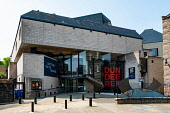 Exterior view of the Dundee Rep theatre in Dundee, Scotland, UK Iain Masterton /Scottish Viewpoint Dunde Rep,Dundee,theatre,Scotland,Scottish,exterior,daytime,culture,cultural centre,UK,United Kingdom,city,cities,modern,scottish dance theatre,nobody