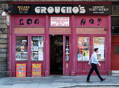 Exterior of Groucho's second hand record shop in Dundee, Scotland, UK Iain Masterton /Scottish Viewpoint Groucho's Dundee,Dundee,record store,second hand record shop,record shop,exterior,shop front,shopping,Scotland,Scottish,secondhand record shop,secondhand record store,daytime,retailer,independent,1 pe