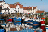 Fishing harbour with many fishing boats at Pittenweem in East Neuk of Fife, Scotland, United Kingdom Iain Masterton /Scottish Viewpoint Pittenweem,Pittenweem harbour,pittenweem fishing village fife,Fife,East Neuk Pittenweem,Fife fishing village,East neuk fife,east neuk fife fishing village,Scotland,Scottish,fishing village scotland,sc