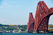 View of the Forth Bridge (Forth Railway Bridge) and North Queensferry in Fife, Scotland, UK Iain Masterton /Scottish Viewpoint Forth Bridge,Scotland,Forth Bridge Scotland,north queensferry,railway bridge,bridges,historic,Scottish,infrastructure,transport,transportation,UK,United Kingdom,daytime,engineering