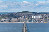View over River Tay  and Tay Road Bridge to city of Dundee in Tayside, Scotland, UK. Iain Masterton /Scottish Viewpoint Dundee,River Tay,Tay Road Bridge,Dundee cityscape,cityscape Dundee,Skyline Dundee,Dundee Skyline,Scotland,Scottish,city,cities,daytime,UK,United Kingdom,Tayside,bridges,transport,infrastructure,highwa