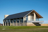 View of new club house (opened April 2018) at Carnoustie Golf Links in Carnoustie, Angus, Scotland, UK. Carnoustie is venue for the 147th Open Championship in 2018. Iain Masterton /Scottish Viewpoint Carnoustie,Carnoustie Golf Links,club house,Carnoustie Golf Course,travel,tourism,building exterior,Angus,Scotland,Scottish,UK,united Kingdom,147th Open championship,British Open,resorts,scottish golf