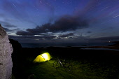 Wild camping under the stars at Sandwood Bay, Sutherland. Highlands of Scotland Mark Ferguson /Scottish Viewpoint uk,u.k,Great Britain,GB,G.B,Scotland,Scottish,1 person,daytime,outdoors,sandwood bay,wild camping,sutherland,coast,highland,north west,night,nighttime,stars,starry,tent,cycle,cycle camping,bike,advent