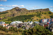 Overlooking Holyrood from Calton Hill, Edinburgh on a summers day, Scotland Jason Baxter /Scottish Viewpoint uk,u.k,Great Britain,GB,G.B,Scotland,Scottish,nobody,daytime,outdoors,capital,city,crags,edinburgh,hill,hillside,holyrood,nature,park,rocky,rugged,salisbury,seat,summer,sunlight,sunny