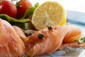 Smoked salmonPicture Credit John Paul/HIE 2018,food,stock,smoked,salmon,fish,lemon,capers,salad