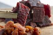 Beef and Salmon jerky Picture Credit John Paul/HIE 2018,food,stock,beef,salmon,jerky,dried,meat,fish,meats