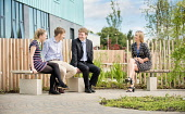 An Lochran and Inverness Campus stock photography, July 2016Picture Credit Tim Winterburn / HIE Highlands,Islands,Enterprise,HIE,An Lochran,Inverness,Campus,2016,office,offices,4 people,outdoors