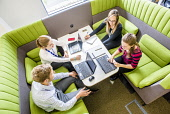 An Lochran and Inverness Campus stock photography, July 2016Picture Credit Tim Winterburn / HIE Highlands,Islands,Enterprise,HIE,An Lochran,Inverness,Campus,2016,office,offices,4 people,laptop,laptops