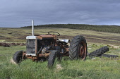 abandoned tractor;artwork;sollas road;north uist;scotland Mark Hicken /Scottish Viewpoint uk,u.k,Great Britain,GB,G.B,Scotland,Scottish,nobody,daytime,outdoors,uist,north uist,western isles,tractor,art,artwork,work of art,field,sollas,sollas road,committee road,C83,abandoned,old