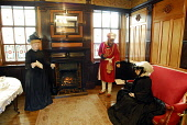 THE OLD ROYAL STATION - THE RESTORED VICTORIAN STATION USED BY QUEEN VICTORIA ON VISITS TO BALMORAL NOW A VISITOR AND TOURIST INFORMATION CENTRE, BALLATER, ABERDEENSHIRE. Historical picture as the sta... Chris Robson /Scottish Viewpoint ATTRACTION,TIC,ROYAL DEESIDE,MUSEUM,INTERIOR,DISPLAY,COSTUME
