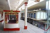 Historical picture as the station has now been renovated after a fire  THE ROYAL CARRIAGE AT THE OLD ROYAL STATION - THE RESTORED VICTORIAN STATION USED BY QUEEN VICTORIA ON VISITS TO BALMORAL NOW A V... Chris Robson /Scottish Viewpoint ATTRACTION,DISPLAY,INTERIOR,MUSEUM,ROYAL DEESIDE,TIC,TRAIN