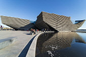 Exterior of the new V&A Museum in Dundee , Scotland, UK. Iain Masterton/Scottish Viewpoint uk,u.k,Great Britain,GB,G.B,Scotland,Scottish,people,daytime,outdoors,V&A Dundee,V and A Dundee,Scottish museum,modern architecture,Dundee V&A museum,V&A Museum Dundee,V&A Scotland,V&A,building exteri