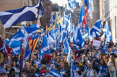 Edinburgh, Scotland, United Kingdom, 7th October 2018. All Under One Banner (AUOB) Scottish March and Rally for Independence. Pro- Scottish independence  supporters walking from Edinburgh Castle to th... Iain Masterton/Scottish Viewpoint uk,u.k,Great Britain,GB,G.B,Scotland,Scottish,people,daytime,outdoors,Edinburgh,march,independence,auob,all under one banner,nationalists. nationalism,scottish nationalism,marches,protest,protesters