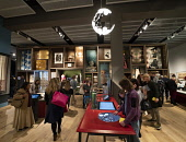 Interior of the Scottish Design Galleries at  new V&A Museum in Dundee , Scotland, UK. Iain Masterton/Scottish Viewpoint uk,u.k,Great Britain,GB,G.B,Scotland,Scottish,group,people,daytime,inside,V&A Dundee,V and A Dundee,Scottish museum,modern architecture,Dundee V&A museum,V&A Museum Dundee,V&A Scotland,V&A,visitors,bu