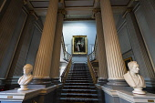 Interior view of staircase of the Signet Library on Parliament Square , Edinburgh Old Town, Scotland, UK. Iain Masterton /Scottish Viewpoint Signet Library Edinburgh,Edinburgh Signet Library,interior,inside,staircase,Edinburgh,libraries,historic,legal,law,UK,united Kingdom,nobody,Parliament Square