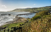 Helmsdale harbour, Sutherland Alan Gordon/Scottish Viewpoint Firths,Helmsdale,Highlands,Moray Firth,North Coast 500,Scotland,Sutherland,atmospheric,autumn,bay,boat,bridge,coast,fishing,harbour,hills,jetty,landscape,mountains,nobody,sea,stormy,sun,sunny,surf,vil