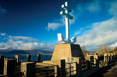 The Free French Memorial Cross, Lyle Hill above Greenock, Inverclyde Keith Fergus/Scottish Viewpoint u.k,Great Britain,GB,G.B,Scotland,Scottish,nobody,outdoors,Inverclyde,Lyle Hill,Free French Memorial Cross,Greenock,River Clyde,River,Firth of Clyde,Memorial,Royal Navy,View,Viewpoint,Town,Ship Buildi