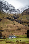 A remote house in Glencoe near the shore of Loch Achtriochtan, Glencoe Jason Baxter/Scottish Viewpoint uk,u.k,Great Britain,GB,G.B,Scotland,Scottish,nobody,daytime,outdoors,Achtriochtan,beauty,glencoe,highlands,house,landscape,loch,natural,nature,rural,rural landscape,scenery,scenic,wilderness,winter,w