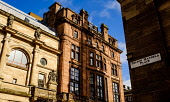 Architecture in Nelson Mandela Place, in Glasgow, Scotland Andrew Wilson /Scottish Viewpoint uk,u.k,Great Britain,GB,G.B,Scotland,Scottish,nobody,daytime,outdoors,architecture,buildings,Glasgow,looking up,modern,old