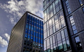 High modern office buildings in West Nile Street, Glasgow, Scotland Andrew Wilson /Scottish Viewpoint uk,u.k,Great Britain,GB,G.B,Scotland,Scottish,nobody,daytime,outdoors,architecture,buildings,Glasgow,looking up,modern,old