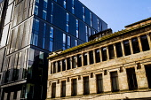 Old and new architecture in West Nile Street, Glasgow Andrew Wilson /Scottish Viewpoint uk,u.k,Great Britain,GB,G.B,Scotland,Scottish,nobody,daytime,outdoors,architecture,buildings,Glasgow,looking up,modern,old