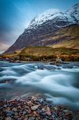 River Coe in Winter, with the backdrop Aonach Dubh in the background Jason Baxter /Scottish Viewpoint uk,u.k,Great Britain,GB,G.B,Scotland,Scottish,nobody,daytime,outdoors,Aonach Dubh,beauty,cloudy,destination,glencoe,long exposure,mountains,natural,natural light,nature,remote,river coe,rugged,rural l