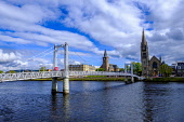 A footbridge over the River Ness in Inverness, Scotland Andrew Wilson/Scottish Viewpoint uk,u.k,Great Britain,GB,G.B,Scotland,Scottish,nobody,daytime,outdoors,Inverness,River Ness,highland capital,highlands of Scotland,spring,springtime,city,highlands