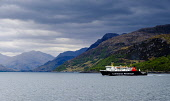 Caledonian MacBrayne ferry 'Lord of the Isles' leaving Mallaig, Scotland with the Isle of Skye in the background Andrew Wilson/Scottish Viewpoint uk,u.k,Great Britain,GB,G.B,Scotland,Scottish,nobody,daytime,outdoors,Caledonian MacBrayne,Isle of Skye,Mallaig,calm. car ferry,ferry,west coast,caledonian,macbrayne,cal,mac,calmac,ferries,transport,t