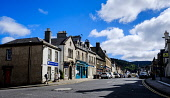 A view of the High Street (A72) in Peebles, Scottish Borders, Scotland Andrew Wilson/Scottish Viewpoint uk,u.k,Great Britain,GB,G.B,Scotland,Scottish,group,daytime,outdoors,may,Peebles,Scottish Borders,spring,springtime,sunshine,High Street,town centre